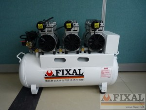 ▼菲克苏静音无油空压机FX1500*3-130 silent oilless (oil free) compressor